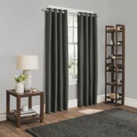 Sebastian 63-Inch Grommet Room Darkening Window Curtain Panel in Charcoal