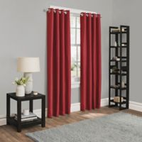 Sebastian 63-Inch Grommet Room Darkening Window Curtain Panel in Red