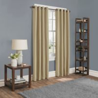 Sebastian 95-Inch Grommet Room Darkening Window Curtain Panel in Gold