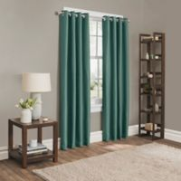 Sebastian 63-Inch Grommet Room Darkening Window Curtain Panel in Peacock