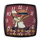 Busy Chef Wall Clock