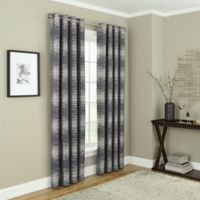 Payson 108-Inch Grommet 100% Blackout Window Curtain Panel in Charcoal