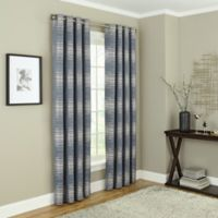 Payson 63-Inch Grommet 100% Blackout Window Curtain Panel in Marine