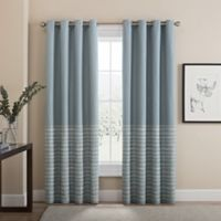 Tremor 63-Inch Grommet 100% Blackout Window Curtain Panel in Blue