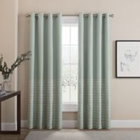 Tremor 63-Inch Grommet 100% Blackout Window Curtain Panel in Aqua