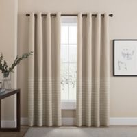 Tremor 84-Inch Grommet 100% Blackout Window Curtain Panel in Tan