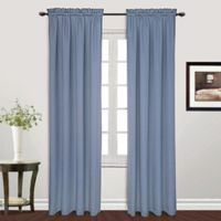 Metro 95-Inch Rod Pocket Window Curtain Panel in Blue
