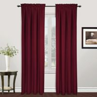 Metro 108-Inch Rod Pocket Window Curtain Panel in Burgundy