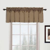 Metro Straight Valance in Taupe