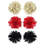 Capelli New York 6-Pack Chiffon and Metallic Hair Clips