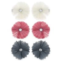 Buy flower hair accessories bed bath beyond capelli new york 6 pack chiffon and gem flower hair clips mightylinksfo