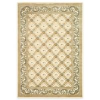 Safavieh Paradise Collection Creme English Trellis 5-Foot 3-Inch x 7-Foot 6-Inch Rectangle Rug