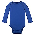 Lamaze® Size 0-3M Organic Cotton Long Sleeve Bodysuit in Royal Blue