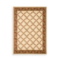 Safavieh Lyndhurst Collection Feodore 6-Foot 7-Inch x 9-Foot 6-Inch Rug in Ivory and Brown