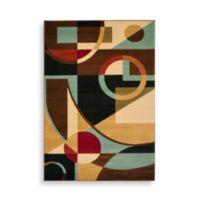 Safavieh Porcello Collection Gannon Black/Multi 2-Foot 4-Inch x 6-Foot 7-Inch Runner