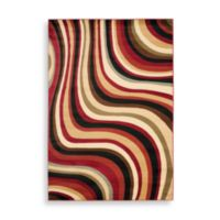 Safavieh Porcello Collection Hamlin Red and Multi 7-Foot Square Rug