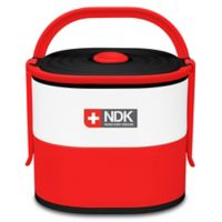NDK Double Decker 57 oz. Food Container in Red
