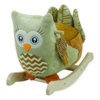 Rockabye™ Owliver Green Owl Chair Musical Rocker