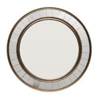 Coltrane 30.5-Inch Round Wall Mirror in Antique Bronze