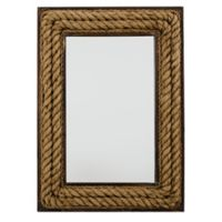 Jute 26-Inch x 36-Inch Rectangular Wall Mirror in Dark Brown