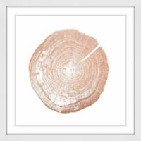 Marmont Hill Log Cutout 18-Inch Square Framed Wall Art