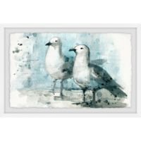 Marmont Hill Sweet Pair 18-Inch x 12-Inch Framed Wall Art