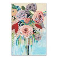 Roseate Posy II 24-Inch x 36-Inch Canvas Wall Art