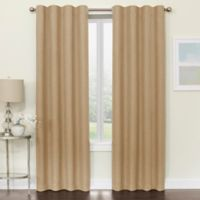Brielle 95-Inch Room Darkening Rod Pocket/Back Tab Window Curtain Panel in Natural