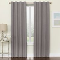 Brielle 95-Inch Room Darkening Rod Pocket/Back Tab Window Curtain Panel in Grey
