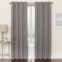 Brielle 84-Inch Room Darkening Rod Pocket/Back Tab Window Curtain Panel in Grey