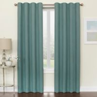 Brielle 95-Inch Room Darkening Rod Pocket/Back Tab Window Curtain Panel in Blue