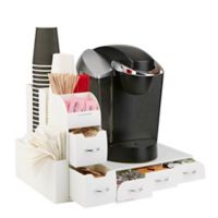 Mind Reader Combine 2-Piece Coffee Drawer and Condiment Caddy in White