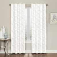 Brielle Embroidery 84-Inch Rod Pocket/Back Tab Window Curtain Panel in Natural