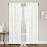Brielle Embroidery 95-Inch Rod Pocket/Back Tab Window Curtain Panel in Grey