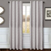 Sawyer Solid 84-Inch Rod Pocket/Back Tab Window Curtain Panel in Grey