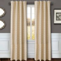 Sawyer Geo 84-Inch Rod Pocket/Back Tab Window Curtain Panel in Ivory