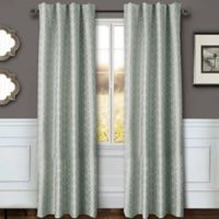 Sawyer Geo 84-Inch Rod Pocket/Back Tab Window Curtain Panel in Spa