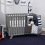 "Disney® Mickey Mouse ""Hello World"" 4-Piece Crib Bedding Set in Navy"