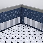 "Disney® Mickey Mouse ""Hello World"" Secure-Me Crib Liner in Navy"
