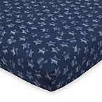 "Disney® Mickey Mouse ""Hello World"" Fitted Crib Sheet in Navy"