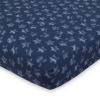 """Disney® Mickey Mouse """"Hello World"""" Fitted Crib Sheet in Navy"""