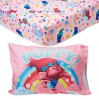 Trolls 2-Piece Poppy Toddler Sheet Set in Pink/Blue
