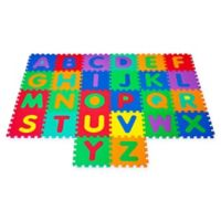 Hey! Play! Interlocking Foam Tile Play Mat with Letters