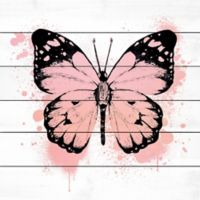 Marmont Hill Butterfly 32-Inch Square Wood Wall Art