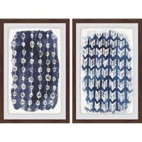 Marmont Hill 2-Piece Boho Patterns 32-Inch x 24-Inch Framed Wall Art Set