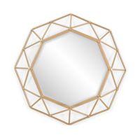 Southern Enterprises Velden 25-Inch Round Mirror in Gold