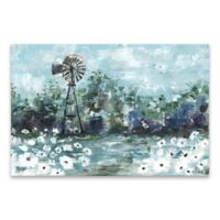 Windmill and Daisies Landscape 36-Inch x 24-Inch Canvas Wall Art
