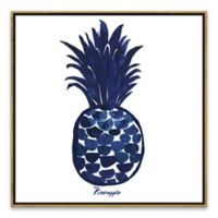 Indigo Pineapple 18.88-Inch Square Framed Wall Art