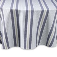 Lake Stripe 70-Inch Round Tablecloth