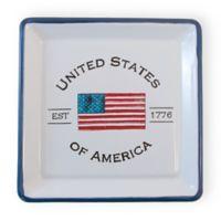 Boston International Patriotic Multicolor 5-Inch Square Appetizer Plate